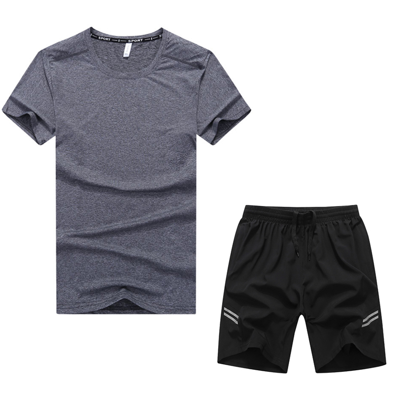 L to 9XL Beach Shorts Men Big Size Sport Suit Breathable Quick Dry Surf 2 Piece Set 2021 New Increase Clothing Summer Sportswear