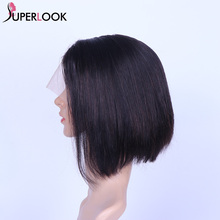 Short Bob Wig Straight Lace Front Wig Human Hair Wigs For Black Women Pre Plucked With Baby Hair Remy Lace Frontal Wig