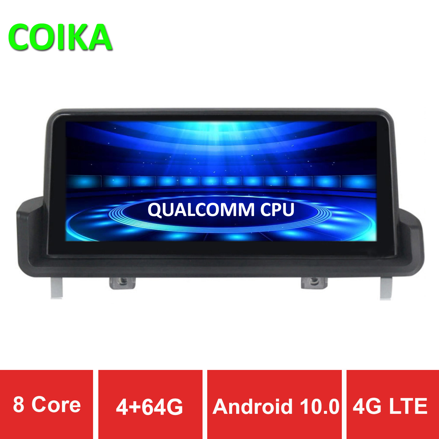 COIKA 8 Core Android 10 System Car Screen Player For BMW E90 E91 E92 05-12 GPS Navi Stereo WIFI 4G Google 4+64G RAM IPS Touch image