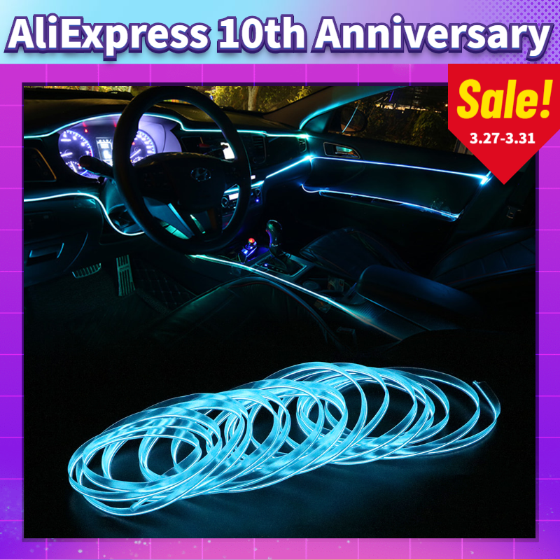 Car Interior Ambient Lights 10 Colors Cold Line Flexible Trim For Land Rover Range Rover Evoque Sport L320 Defender Discovery 4
