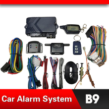 цены на Car Alarm System Russian Version Two Way Alarm for B9 with Engine Start LCD Remote Control Key Fob Case For B9  в интернет-магазинах