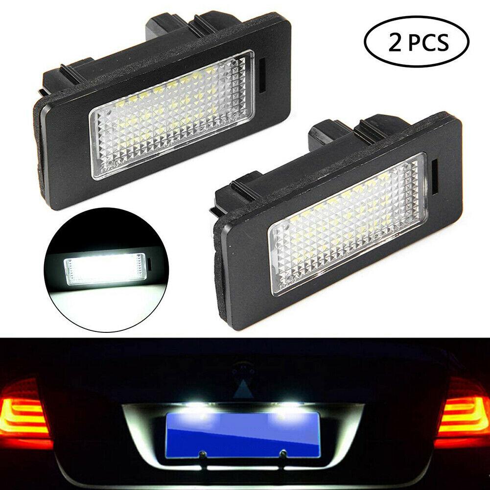 Car License Number Plate Light Trunk LED License Plate Light 24 Leds Lamp for BMW E81 E87 E63 E64 E89 Z4 F20 F21Car Light Source|License Plate| |  - title=