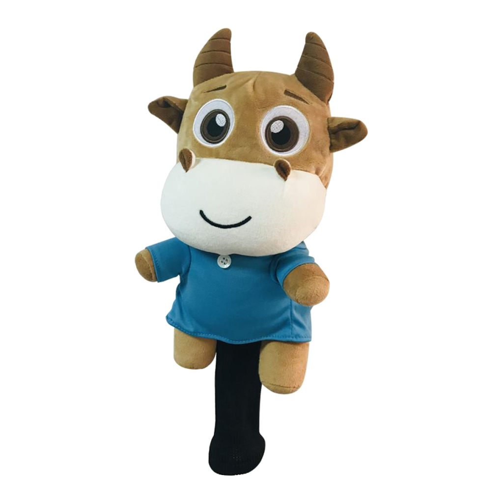 Golf 460cc Driver Wood Head Cover - Novelty Animal Cow Shape Headcover - Christmas Gift