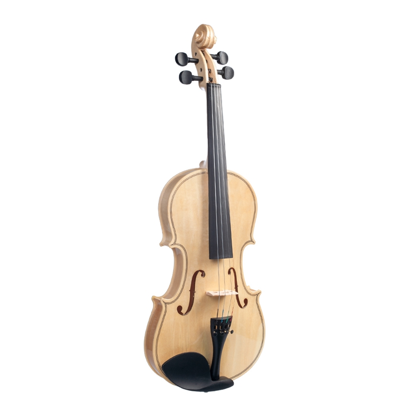 4 4 violino superficie polida suave violino arco caixa conjunto novo 05