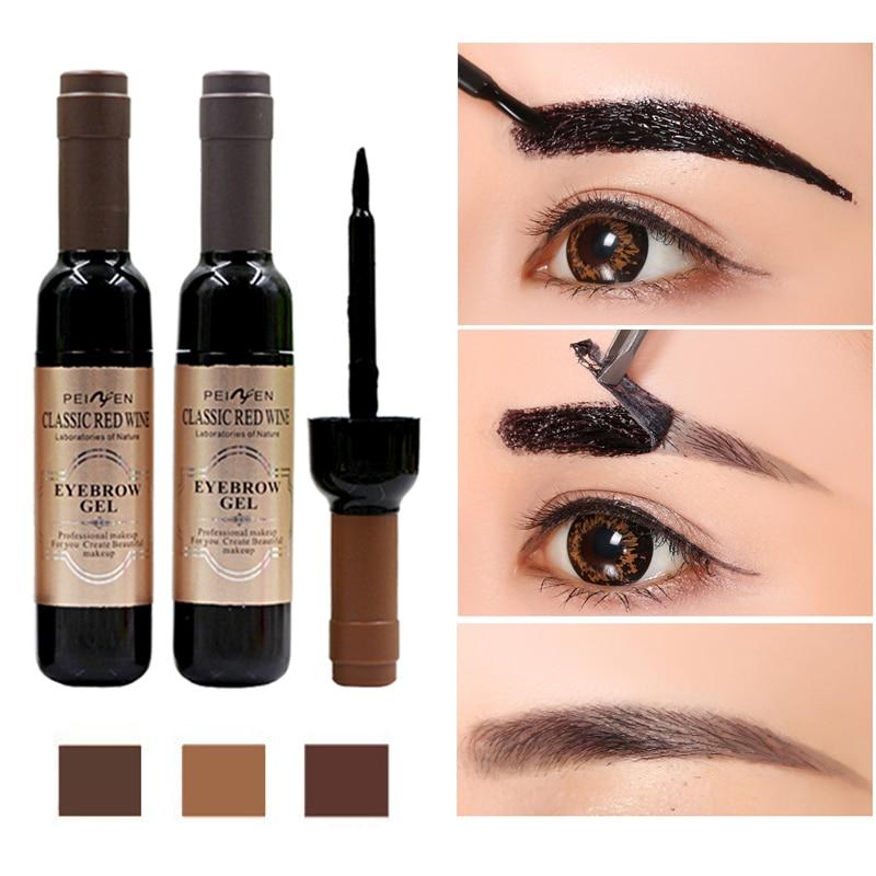 1Pcs Eyebrow Tattoo Gel Black Coffee Gray Peel Off Eye Brow Shadow Eyebrow Gel Cosmetics Makeup for Women High Pigmented Makeup