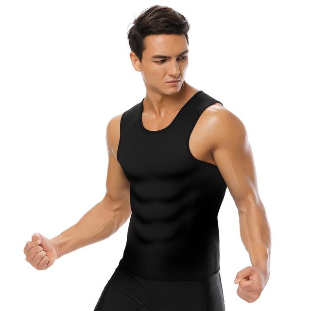 Slimming Belt Belly Waist Slimming Burning Body Fat Abdomen Vest Shaperwear Sweat Shaper Neoprene Men Corset 4