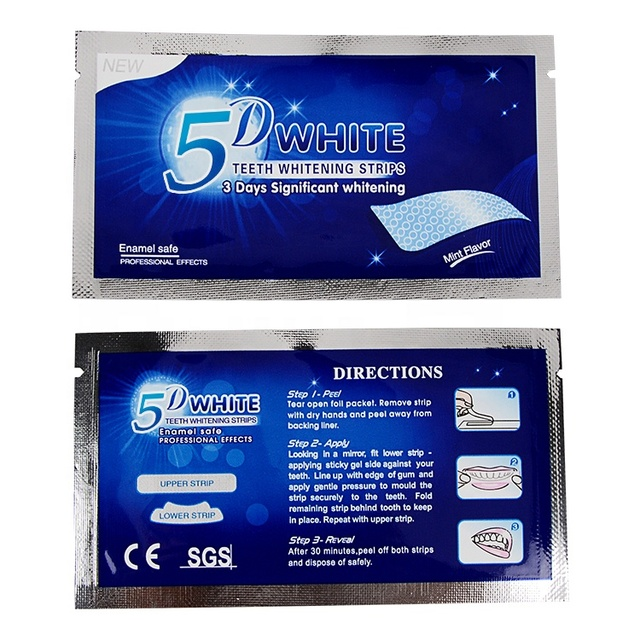 M`J 5D Gel Teeth Whitening Strips White Tooth Dental kit Oral Hygiene Care Strip for false Teeth Veneers Dentist seks Whiten gel