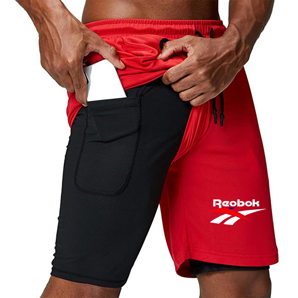 Men's Tide brand <font><b>2</b></font> <font><b>in</b></font> <font><b>1</b></font> running <font><b>shorts</b></font> safety pocket casual <font><b>shorts</b></font> quick-drying <font><b>sports</b></font> <font><b>shorts</b></font> pocket with embedded earphone hole image