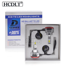 HCDLT Car Lamp D3S D4S D4R D2R D2S LED Headlight Bulb White D1S D5S D8S 70W 12000LM Built-in Canbus Driver For Car Auto Headlamp
