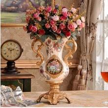 Resin Vase Desktop-Decoration Wedding-Gift Office American-Style Home European And Retro