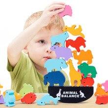 Wooden Toys Balance-Games Blocks Wooden-Stacking-Balance Montessori Colorful Children