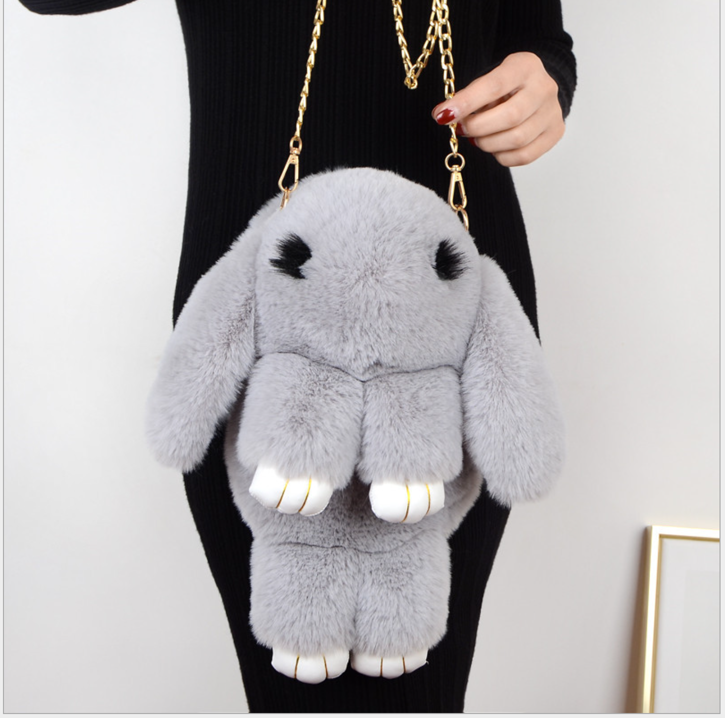Handbags Plush Rabbit Imitation Rex Rabbit Fur Dead Rabbit Cute One Shoulder Cross Shoulder Backpacker