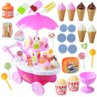 Model Mini Candy Boat Candy Car Ice Cream Cart 39 Pieces Sound And Light Cart Play House