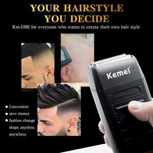 Image 5 - Kemei профессиональная машинка для стрижки волос перезаряжаемая электрическая Беспроводная мощная борода триммер для лица машинка для стрижки волос для взрослых