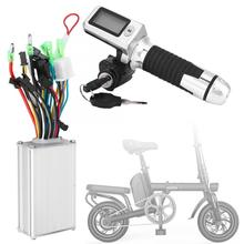 Electric-Bike-Controller Throttle-Grip E-Bike-Parts Scooter 36V/48V with 1-Pair Waterproof