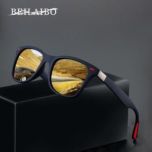 Image 1 - 2019 Nieuwe Klassieke Gepolariseerde Zonnebril Mannen Vrouwen Rijden Vierkante Frame Zonnebril Mannelijke Goggle UV400 Driver bril Nacht Bril