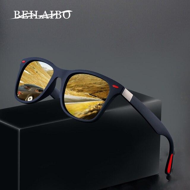 2019 Nieuwe Klassieke Gepolariseerde Zonnebril Mannen Vrouwen Rijden Vierkante Frame Zonnebril Mannelijke Goggle UV400 Driver bril Nacht Bril