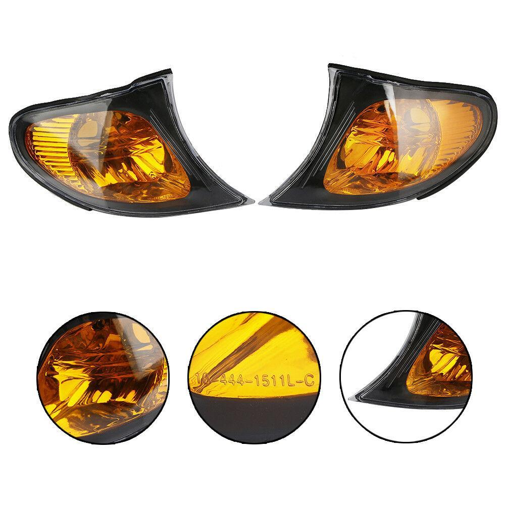 2 шт. Автомобильная Поворотная сигнальная лампа для bmw e46 универсал Янтарный парк световой сигнал автомобиля угловой светильник лампа для Bmw ...