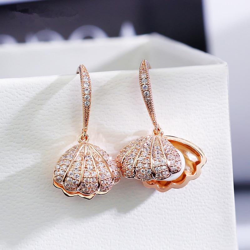Alla moda di Cristallo Geometrico Delle Donne Ciondola Gli Orecchini Orecchini di Perla Delle Coperture Della Boemia Orecchini di Goccia Dei Monili Orecchini