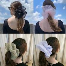 Женские резинки для волос из органзы большие размеры корейские