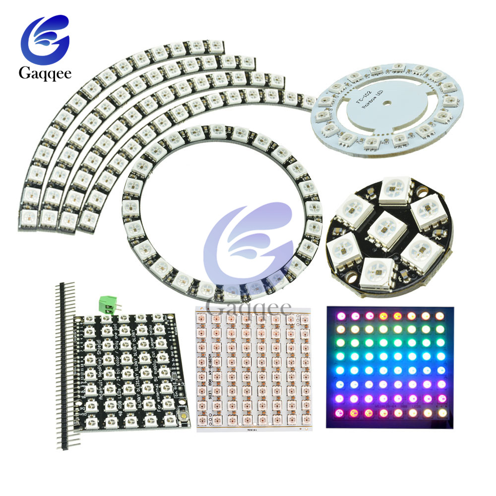 12 16 24 40 60 64 Bit WS2812 Module 5050 RGB LED Full-color Built-in Driving LED Ring Light With Integrated Drivers For Arduino