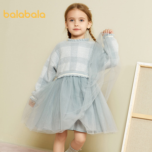 Image 3 - Balabala Mädchen kleider 2020 neue herbst und winter kleidung kinder prinzessin kleid casual kleid pullover rock