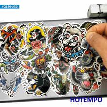 50 pçs escuro velha escola tatuagem graffiti arte estilo adesivos para o telefone móvel portátil bagagem mala skate bicicleta decalque adesivos