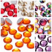 Astrobox – perles de verre en cristal, plusieurs couleurs, à dos plat, strass, perles amples, pour bricolage, vêtements et accessoires