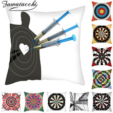Fuwatacchi Darts Pattern Cushion Cover Realistic Printed Chair Pillow Covers Decoration Home Sofa Throw PillowCases 45cmX45cm цены
