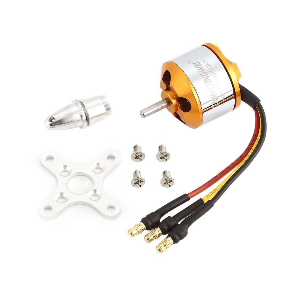 DXW A2212 2212 1000KV/1400KV 2-4S 3.17mm Outrunner <font><b>Brushless</b></font> <font><b>Motor</b></font> for <font><b>RC</b></font> FPV Fixed Wing Drone Airplane 1047/9050 Propeller image