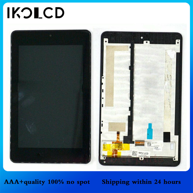 Parts For <font><b>Acer</b></font> Iconia One 7 <font><b>B1</b></font>-<font><b>730HD</b></font> <font><b>B1</b></font>-730 <font><b>B1</b></font> <font><b>730HD</b></font> 730 LCD Display Matrix Touch Screen Digitizer Assembly with Frame image