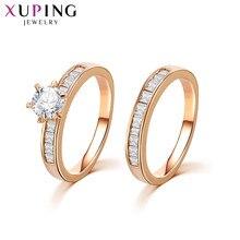 Xuping moda anel clássico encantador anel de casamento cor sintética cz valentine jóias presente 12814