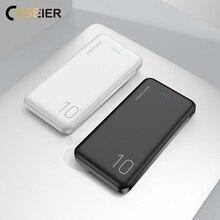 Caseier 10000mAh power Bank для iPhone samsung Xiaomi huawei двойное Портативное зарядное usb-устройство Ультра тонкое зарядное устройство power bank 10000mAh повербанк пауэр банк