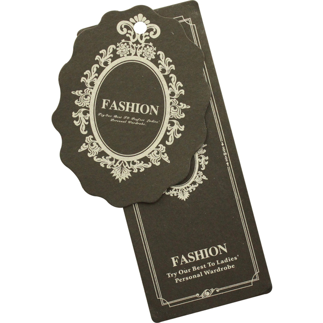 custom 10000pcs/lot 300GSM garment tags for clothes price label paper pricing tags labels bags cards handmade tag