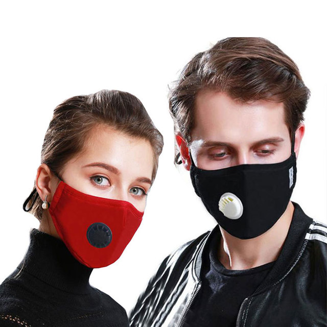 Kpop Cotton Anti Dust Flu Mouth Face Mask korean Unisex maska with Carbon Filter Fabric Anti Haze PM2.5 Black Mouth-muffle Mask 1