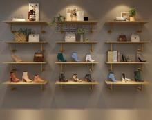Upper wall shoe rack, bag rack, clothing store, background wall, decoration rack, gold display rack, shoe store, shoe rack босоножки hey beautiful shoe store 603 2015