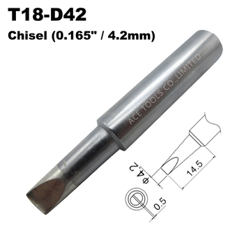 T18-D42 Soldering Tip Screwdriver 4.2mm 0.165 Fit HAKKO FX-888 FX-888D FX-8801 FX-600 Lead Free Iron Bit Handle Welding Nozzle image