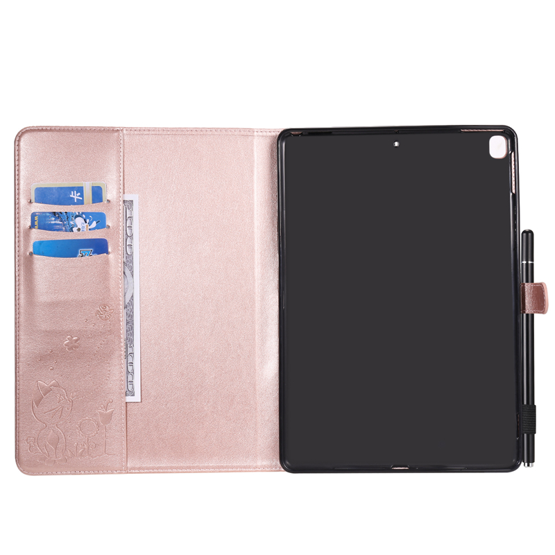 Cartoon Embossing A2198 Cat 7th-Generation for A2232-Cover-Case Apple iPad Cover A2200