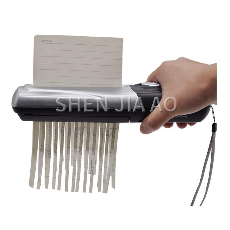 portable handheld shredder mini USB/Batteries charging A6 folded A4 strip cut hand paper shredder for home office school KFK7030