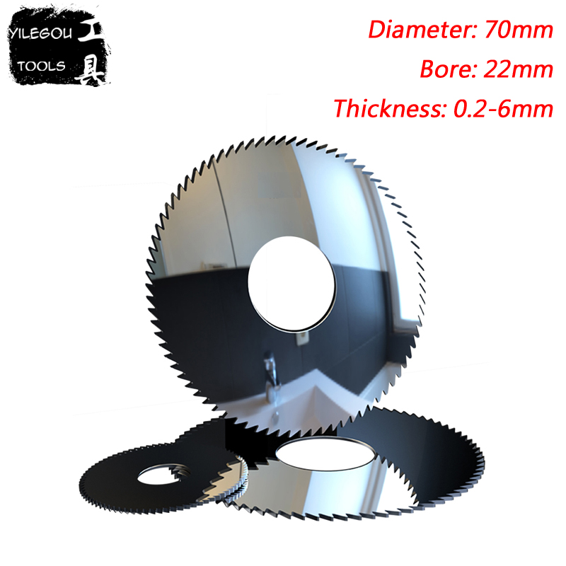 70mm Solid Tungsten Circular Saw Blades, 70x22mm Alloy Tungsten Steel Milling Cutter Cutting Stainless Steel, Thickness 0.2-6mm