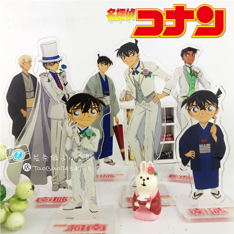 HOT Anime Detective Conan Case Closed Conan Edogawa Jimmy Kaitou Kiddo  Acrylic Stand Figure Decoration Cosplay Desk Decor Gifts