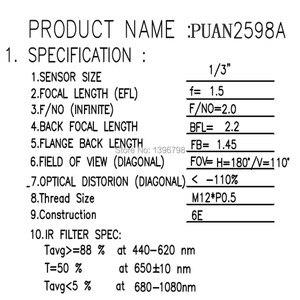 Image 3 - PUAimetis HD 360 fisheye กล้องวงจรปิดเลนส์ 1.5 มม.M12 การเฝ้าระวังวิดีโอกล้อง 1/3/1/2.7 180 มุมกว้างเลนส์กล้องวงจรปิด