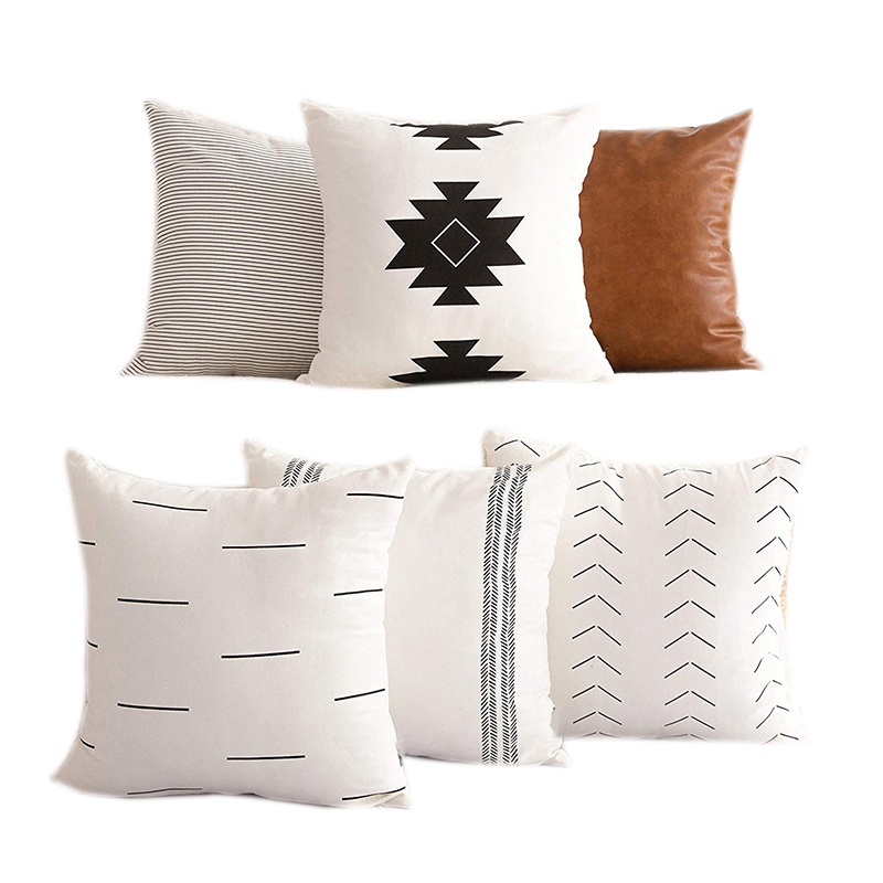 Professional Decorative Pillowcases Are Only Suitable for Sofas, Sofas or Bed Sets Of 6 Pieces 18 X 18 Inches Modern Quality Des