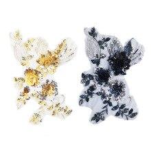 1 шт. высокое качество ручной работы цветок свадебное платье аппликация DIY свадебный головной убор слоновой кости белый кружево патч