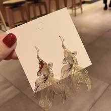 Индивидуальные винтажные металлические висячие серьги в китайском