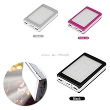 Draagbare 5X18650 5V 1A Power Bank Case 18650 Zonne energie Bank Case Diy Box Dual Usb Kit telefoon Oplader Case Met Zaklamp