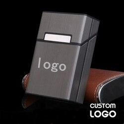Własne Logo Cigaret Case osobowość ze stopu aluminium papierośnica przechowywanie tytoniu przenośna kreatywność prezent Cigaret akcesoria