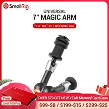 "SmallRig brazo mágico articulado de fricción ajustable, 7 ""de largo con soporte para zapata fría y adaptador de tornillo enroscado estándar 1/4"" 20 1497"
