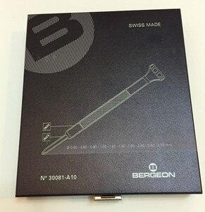Image 2 - BERGEON 30081 A10 플라스틱 헤드 스크루 드라이버 시계 수리 10 조각 나무 상자