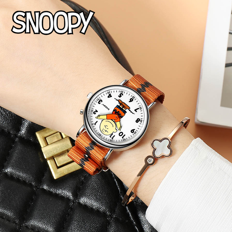 Top Brand Snoopy Original Kids Genuine Casual Fashion Boy Girl Children Quartz Waterproof  Wristwatches Student Gift Clock New
